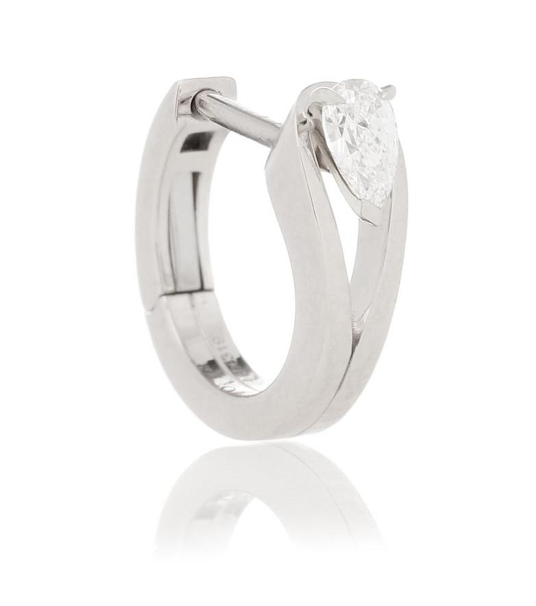 Repossi Serti Inversé XS 18kt white gold single earring with diamond in silver