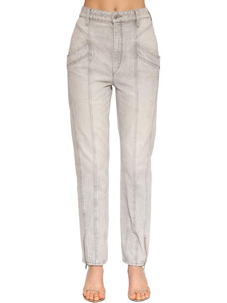 ISABEL MARANT Kelissa Straight Leg Cotton Denim Jeans in grey