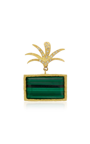 Orit Elhanati Roxy Green Palm 18K Gold Malachite Single Earring