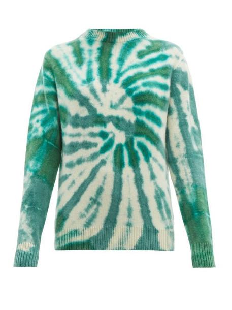 The Elder Statesman - Tie Dyed Cashmere Sweater - Womens - Green Multi