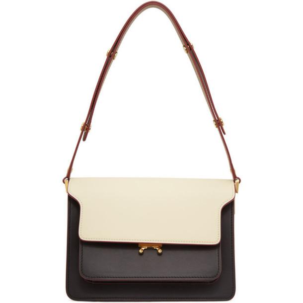 Marni White and Brown Medium Trunk Bag