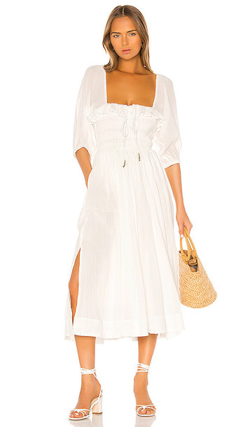 Free People Oasis Midi Dress in White