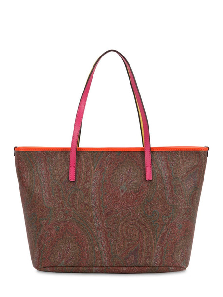 ETRO Paisley Print Coated Cotton Tote Bag