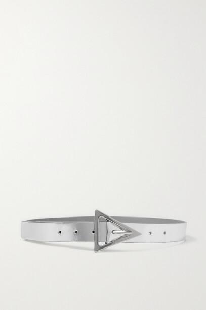 Bottega Veneta - Metallic Leather Belt - Silver