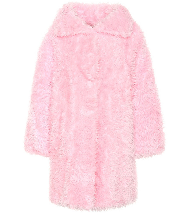 Balenciaga Swing faux fur coat in pink