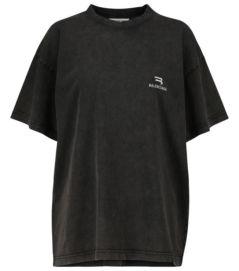 Balenciaga BB Pixel cotton jersey T-shirt in black