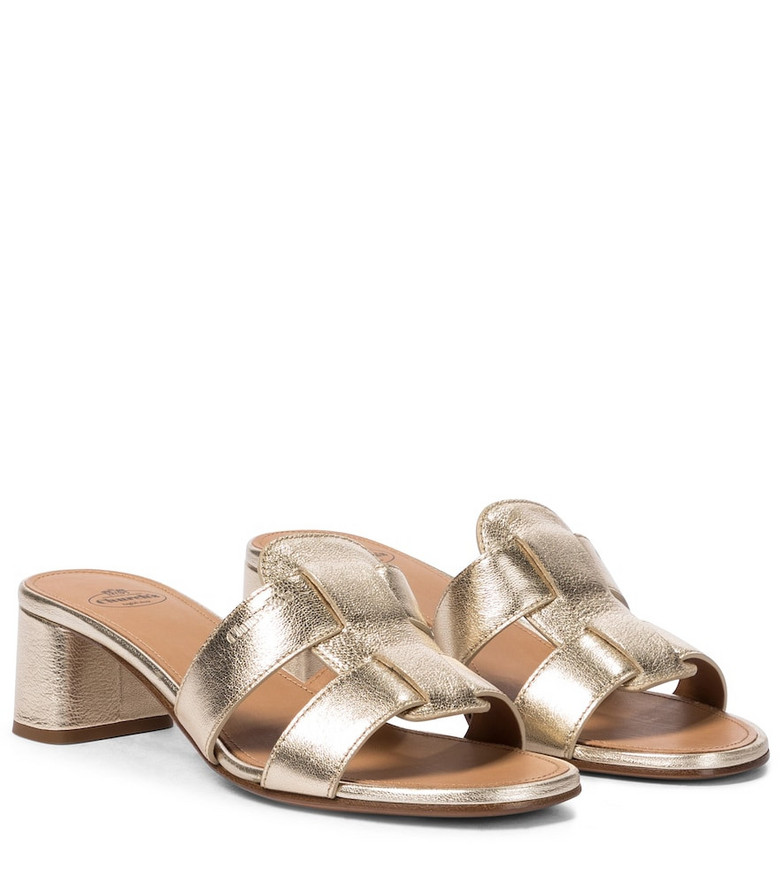Church's Dee Dee leather sandals in gold