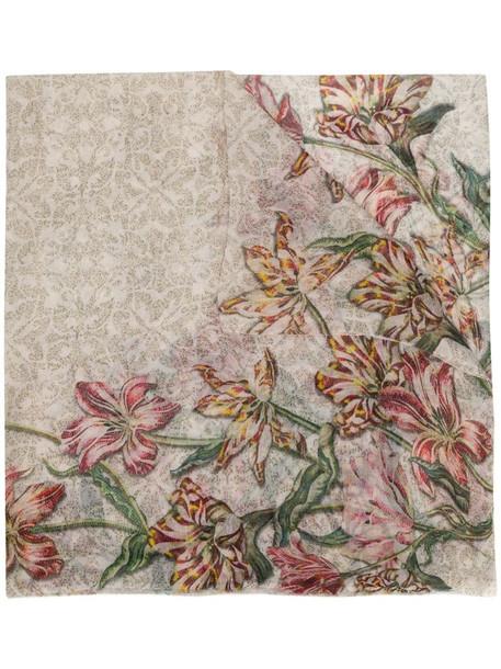 Faliero Sarti floral print cashmere scarf
