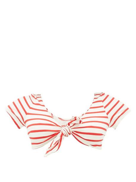 Solid & Striped - The Vanessa Striped Bikini Top - Womens - Red Stripe