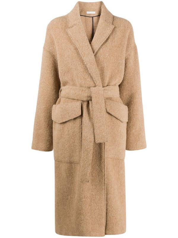 Inès & Maréchal large flap pocket coat in neutrals