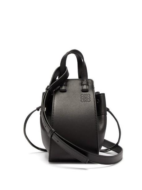 Loewe - Hammock Mini Black Leather Cross Body Bag - Womens - Black