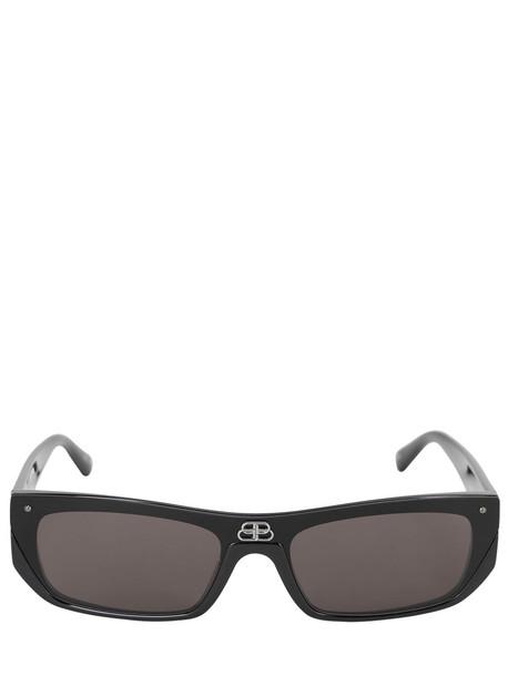 BALENCIAGA Shield Rectangle Sunglasses in black