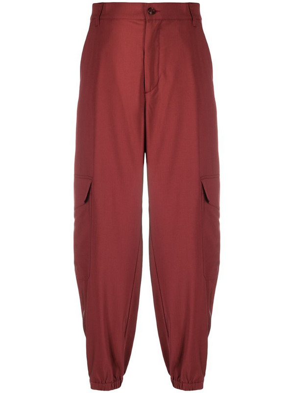 Barena cropped straight-leg trousers in red