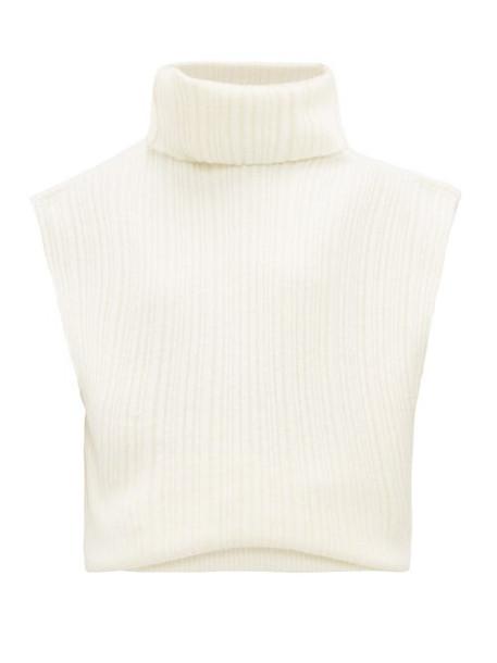 Jacquemus - Aube Open Back Merino Wool Blend Sweater - Womens - White