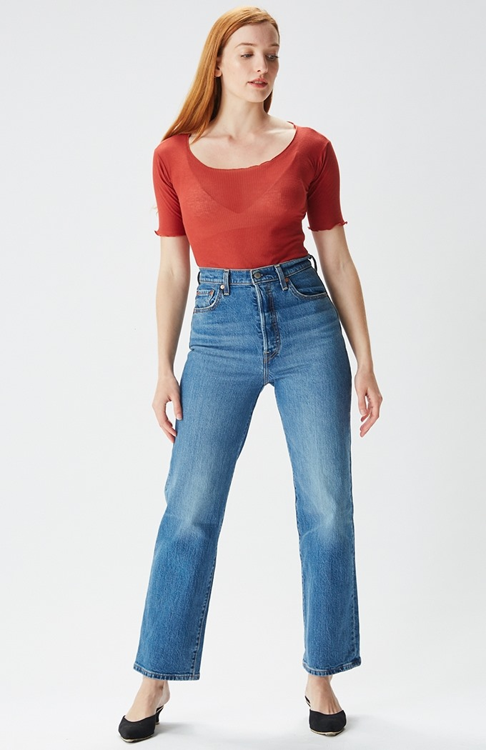 Ribcage Straight Ankle Jeans - Jive Swing