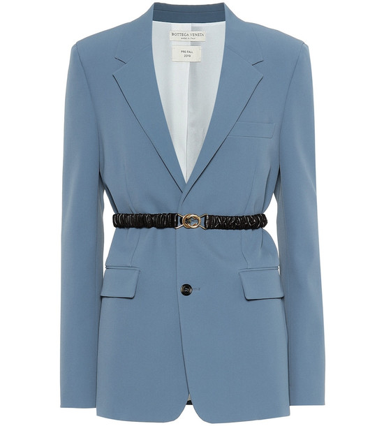 Bottega Veneta Technical gabardine blazer in blue
