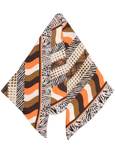 Pierre-Louis Mascia patterned silk scarf in brown