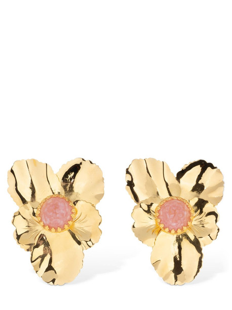 PERACAS Penelope Stud Earrings in gold / pink