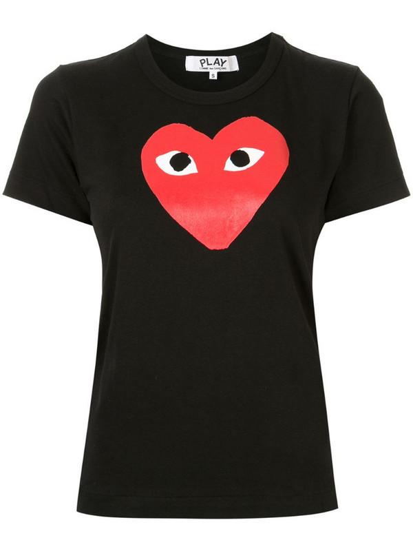 Comme Des Garçons Play logo print T-shirt in black
