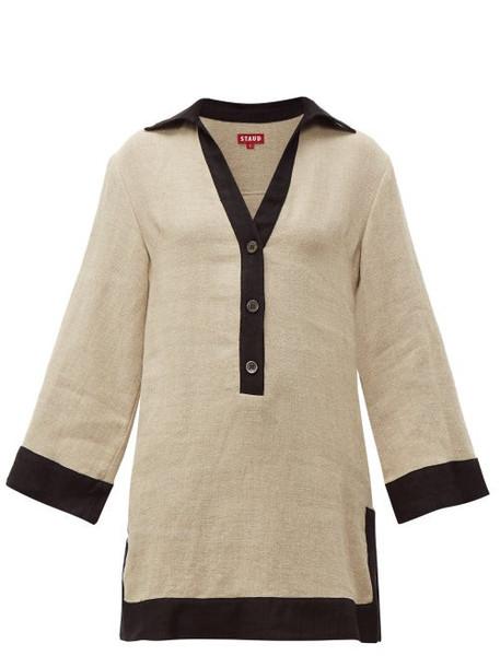Staud - Chaise Linen Mini Dress - Womens - Beige