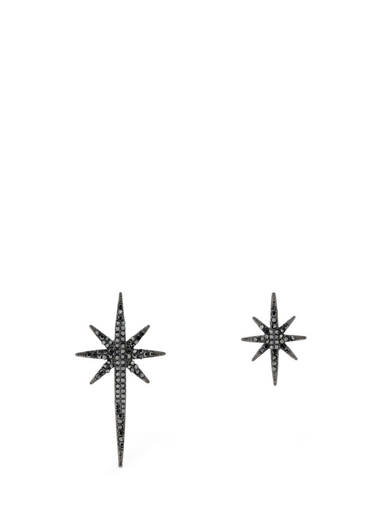 FEDERICA TOSI Mismatched Asymmetrical Stars Earrings in black