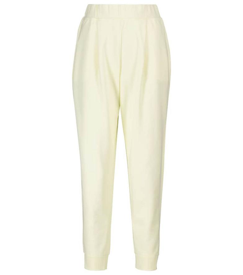 Max Mara Leisure Bric cotton sweatpants in yellow