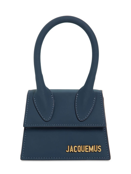 JACQUEMUS Le Chiquito Matte Leather Bag in navy