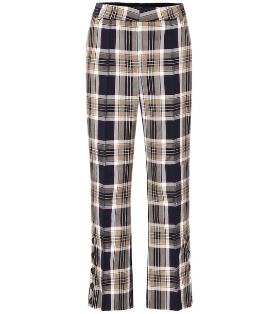 Rokh Checked high-rise flared pants