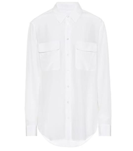 Equipment Signature silk shirt in white