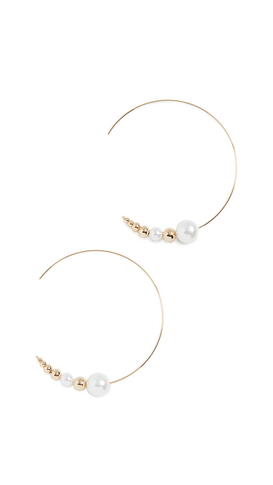 Jules Smith Pearl Threader Earrings in gold