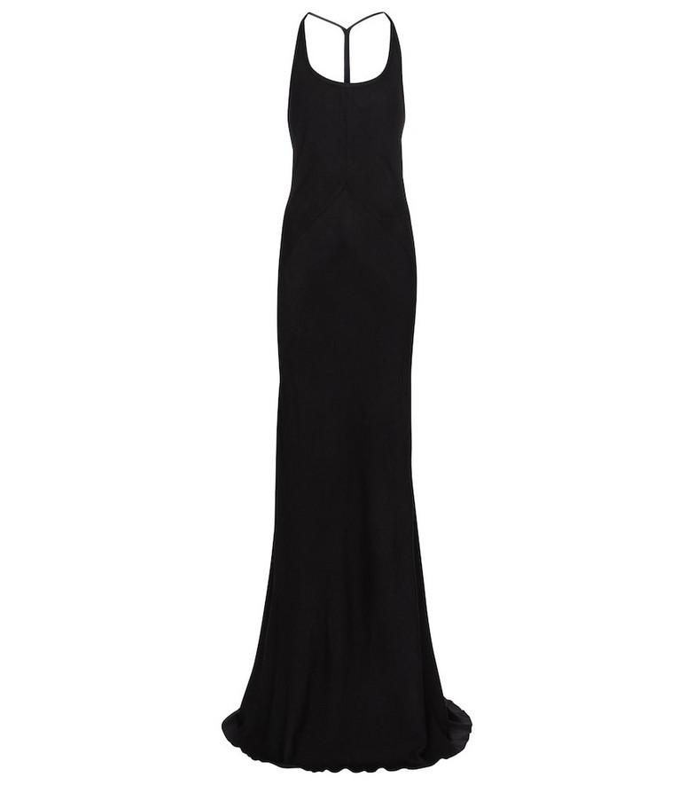 Ann Demeulemeester Halterneck wool and silk gown in black