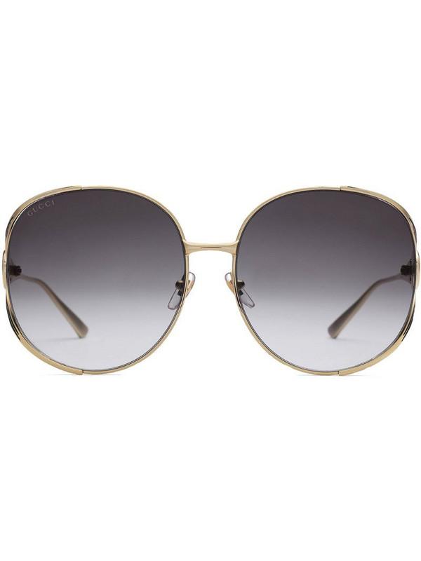 Gucci Eyewear Round-frame metal sunglasses in metallic
