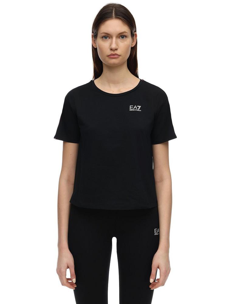 EA7 EMPORIO ARMANI Train Cotton Jersey T-shirt in black