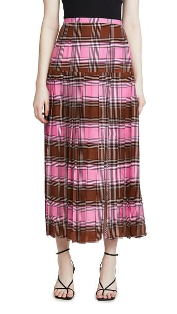 RIXO Tina Skirt in brown / pink