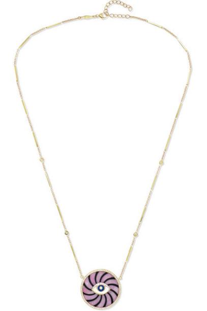 Jacquie Aiche - Swirl Eye 14-karat Gold Multi-stone Necklace