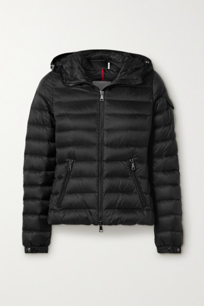 Moncler - Bles Hooded Quilted Shell Down Jacket - Black