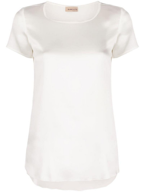 Blanca Vita Tania silk T-shirt in white