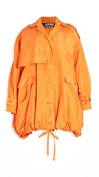 Jacquemus The Ouro Parka in orange