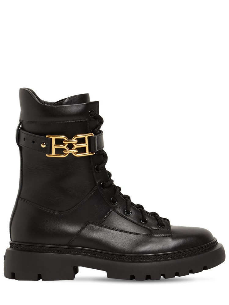 BALLY 30mm Gioele Leather Combat Boots in black