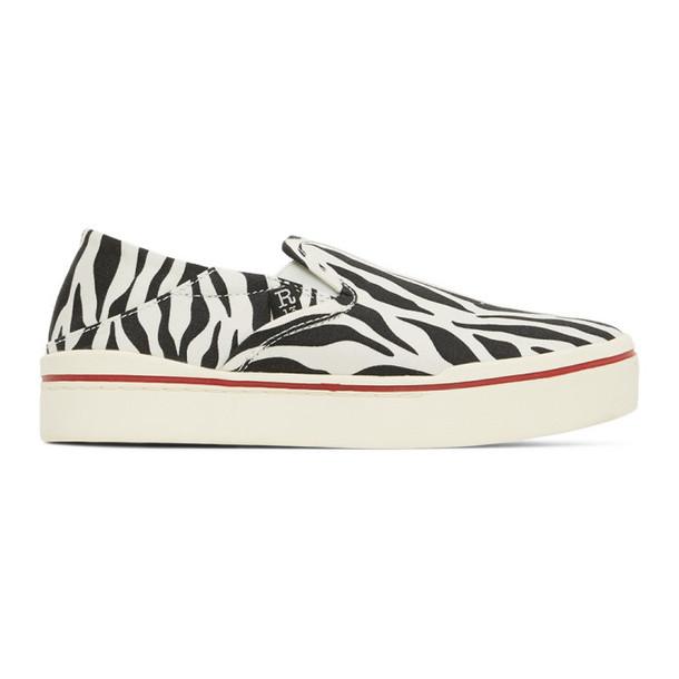 R13 Black and White Zebra Sneakers