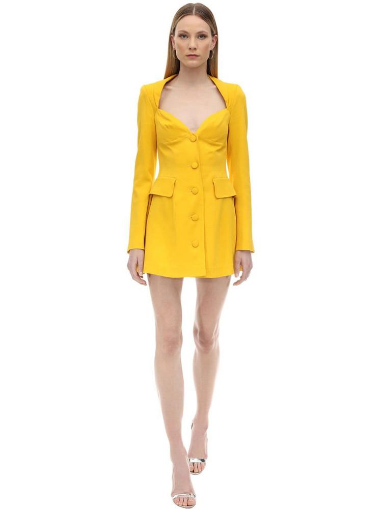 MARIANNA SENCHINA Viscose Crepe Bustier Jacket Dress in yellow