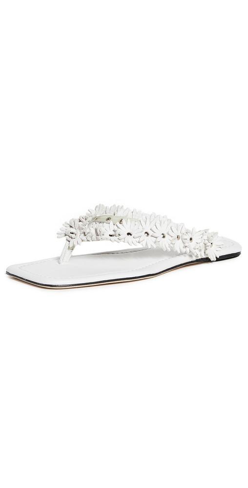 BY FAR Gita Thong Sandals in white