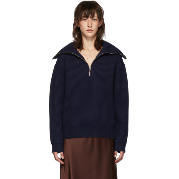 Acne Studios Navy Kelaine Sweater