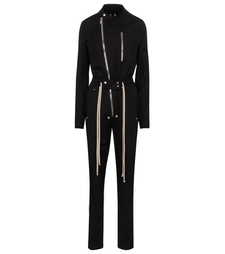 Rick Owens Gary cotton poplin jumpsuit in black