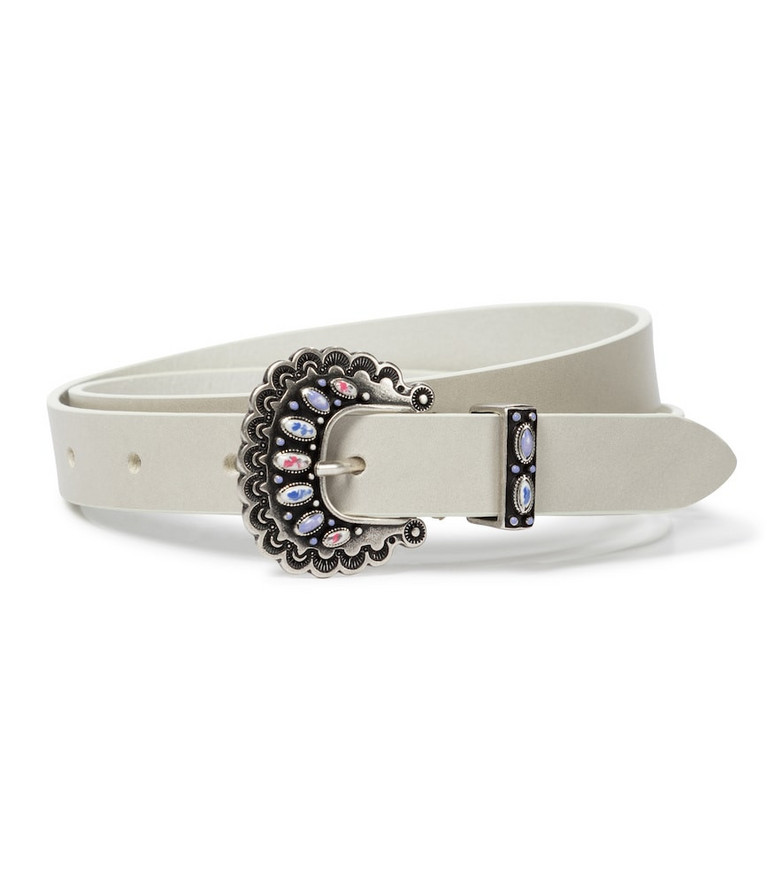 Isabel Marant Temoia leather belt in white