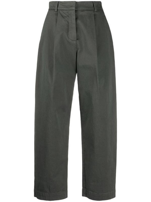 YMC pleated wide-leg trousers in grey
