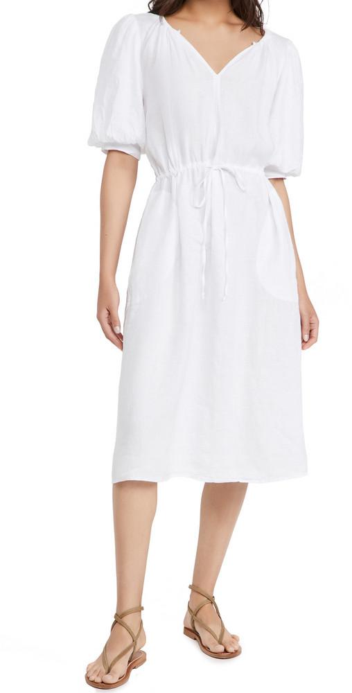Velvet Susannah Dress in white