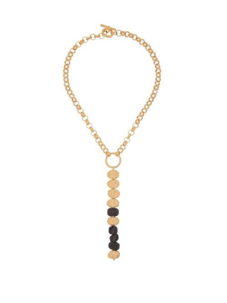 Aurélie Bidermann - Onyx & 18kt Gold-plated Necklace - Womens - Gold