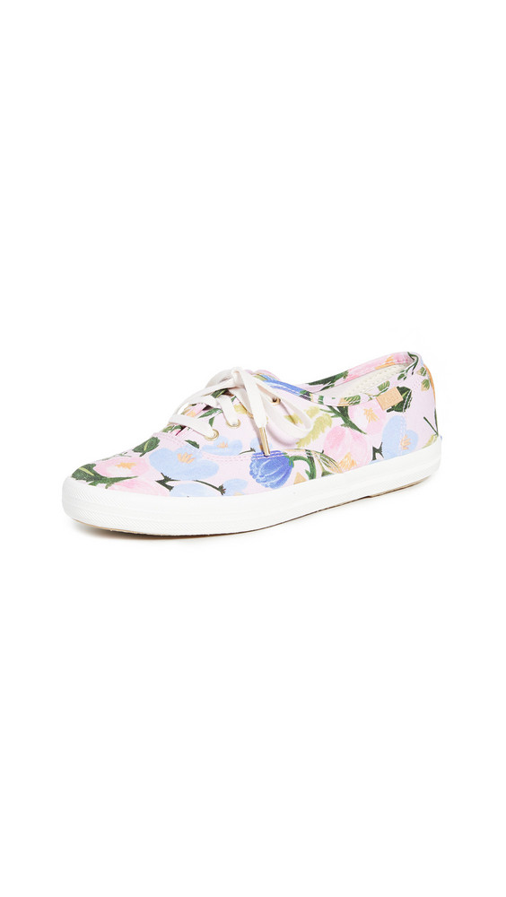 Keds x Rifle Paper Co. Champion Floral Sneakers in pink / multi