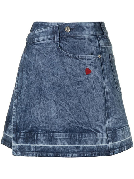 Stella McCartney wrap denim skirt in blue